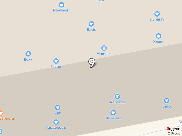 Башмачок на карте Калининграда