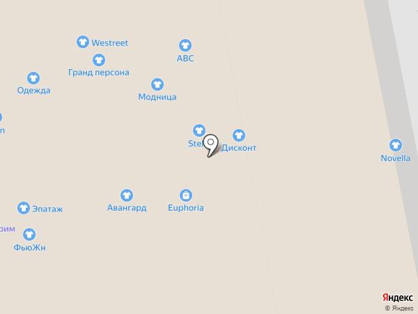 Авангард на карте Калининграда