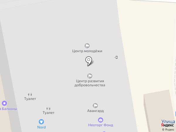 Акрополь на карте Калининграда