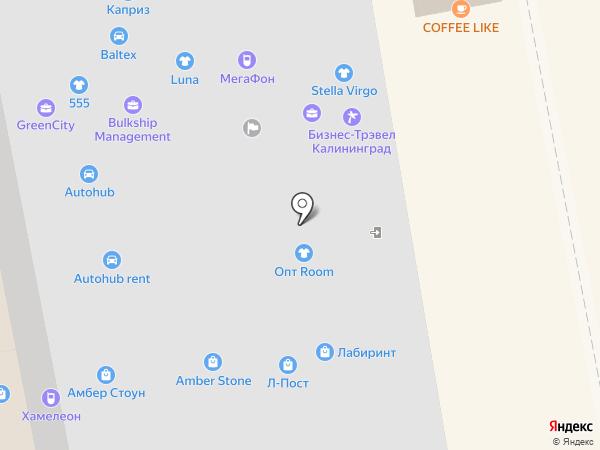 Амбер Стоун на карте Калининграда