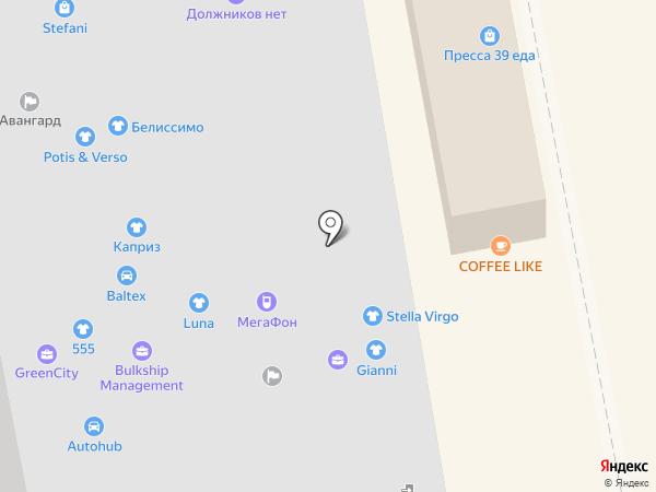 Билайн на карте Калининграда