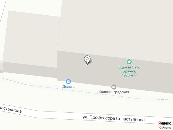 Дельта на карте Калининграда