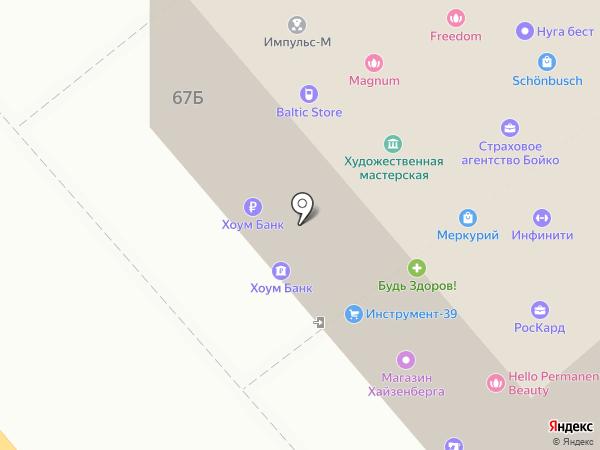 Zolex-Market Express на карте Калининграда