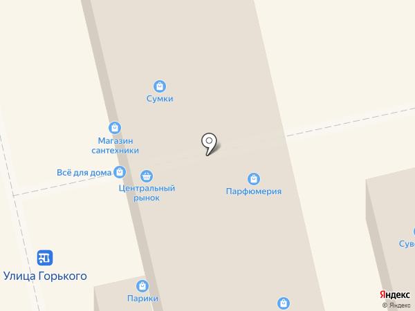 Бретельки на карте Калининграда