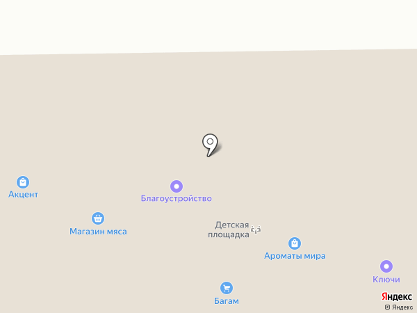 Зеленая карта на карте Калининграда
