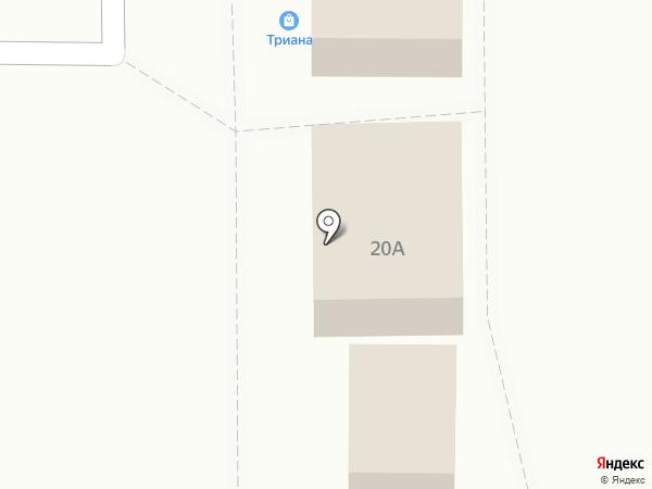 Триана на карте Калининграда