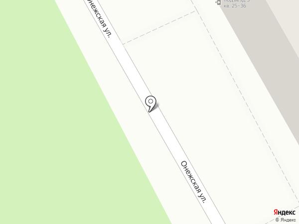 Онежский на карте Калининграда