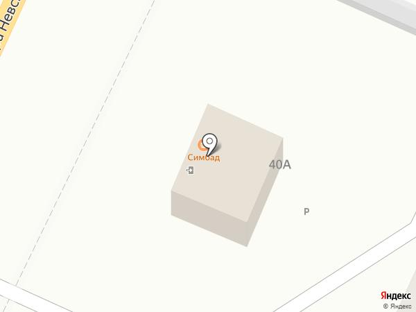 Симбад на карте Калининграда