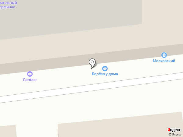 Береза на карте Калининграда