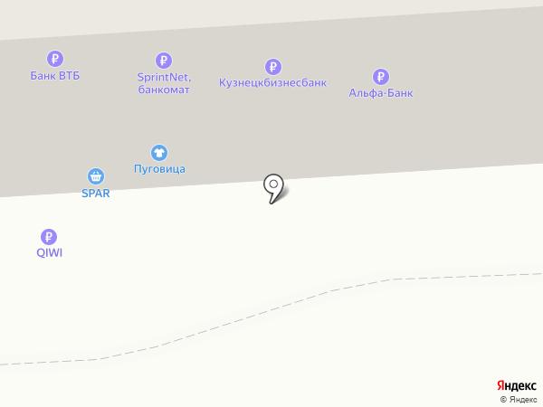 Пуговица на карте Калининграда