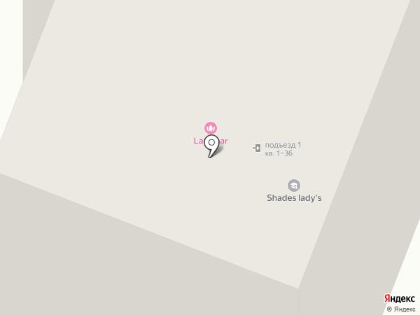 Ласточка на карте Калининграда