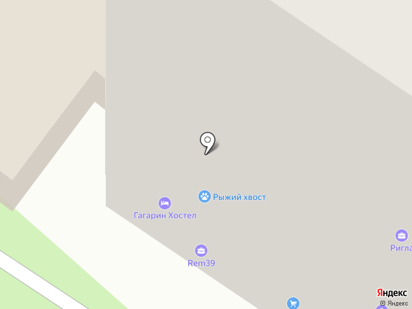 Аравана на карте Калининграда