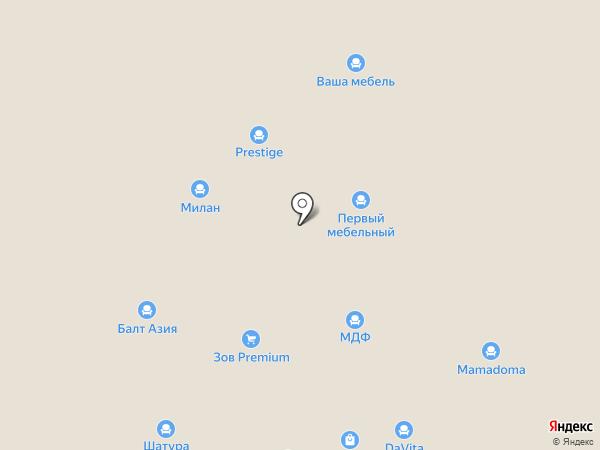 Мебель Пруссия на карте Калининграда