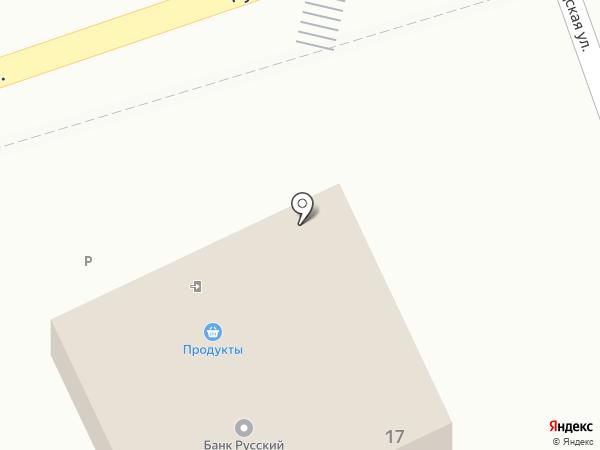 Продовольственный магазин на карте Малого Исаково