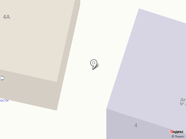 Детский сад №2 на карте Гурьевска