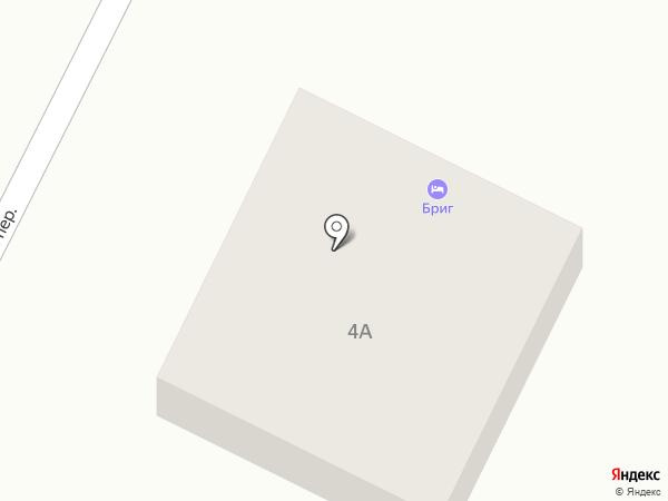Бриг на карте Большого Исаково