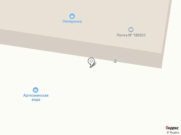 Пятёрочка на карте Писковичей