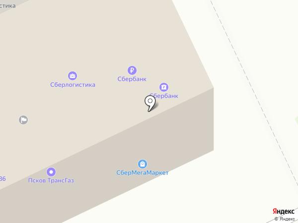 Довмонт на карте Пскова