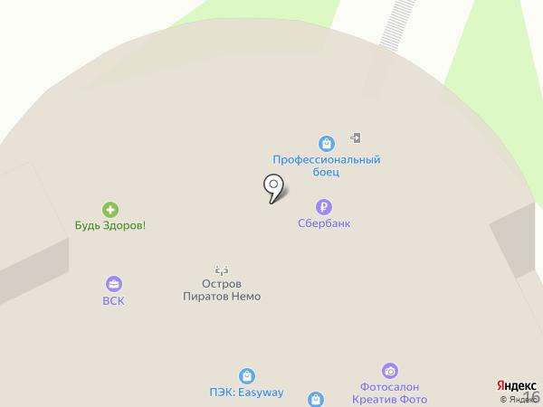 Компас на карте Пскова