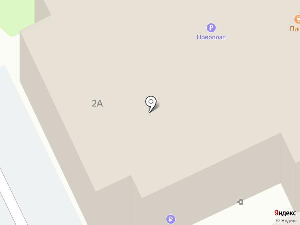 Цветочный магазин на ул. Рокоссовского на карте Пскова