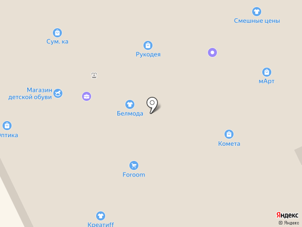 Комета-М на карте Пскова