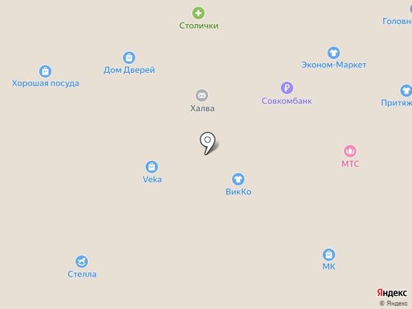 Магазин ковров на карте Пскова