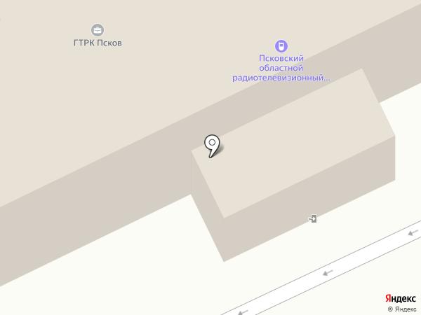 Псковский областной радиотелевизионный передающий центр на карте Пскова