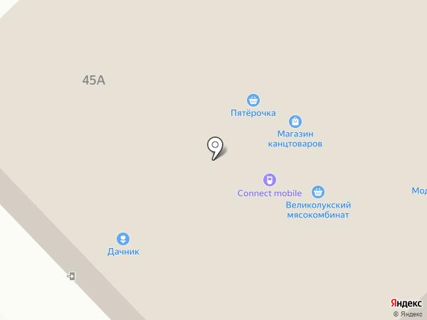 Банкомат, МОСОБЛБАНК на карте Пскова