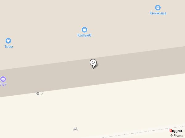 Колумб на карте Пскова