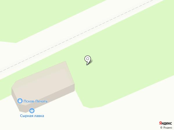 Магазин овощей и фруктов на Рижском проспекте на карте Пскова