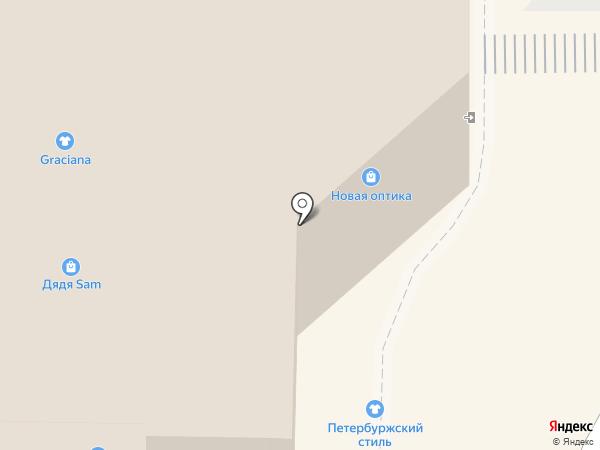 Нарядная ёлка на карте Пскова