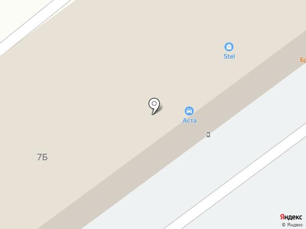АСТА на карте Пскова