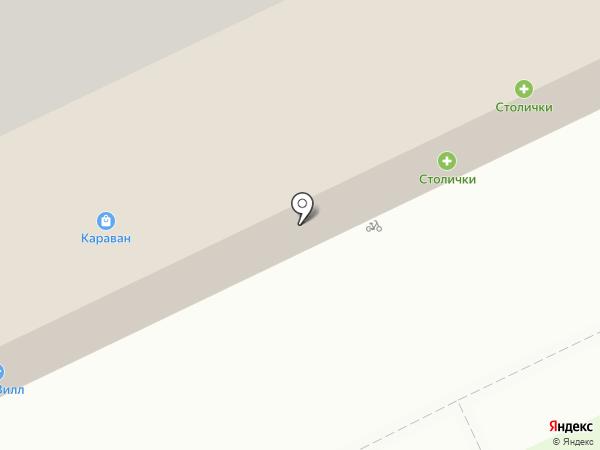 Караван на карте Пскова