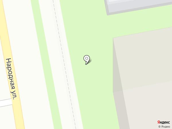 Киоск по продаже выпечки на карте Пскова