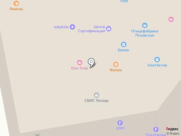 МСК на карте Пскова
