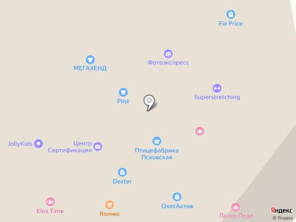 Мир Жалюзи на карте Пскова
