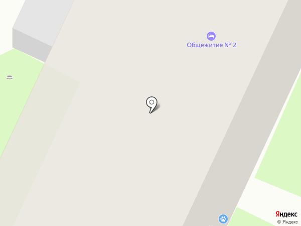 Каштанка на карте Пскова