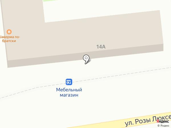 Мясная лавка на карте Пскова