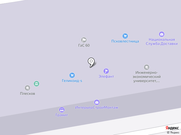 Геликоид-S на карте Пскова