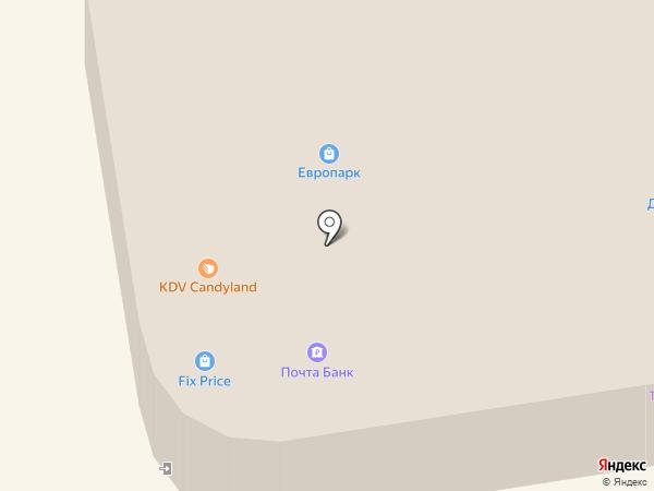 Европарк на карте Пскова