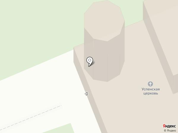 Церковь Успения Пресвятой Богородицы в Бутырках на карте Пскова