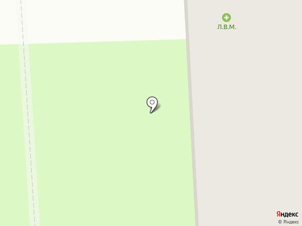 Л.В.М. на карте Пскова