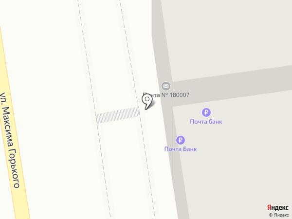 Почтовое отделение №7 на карте Пскова