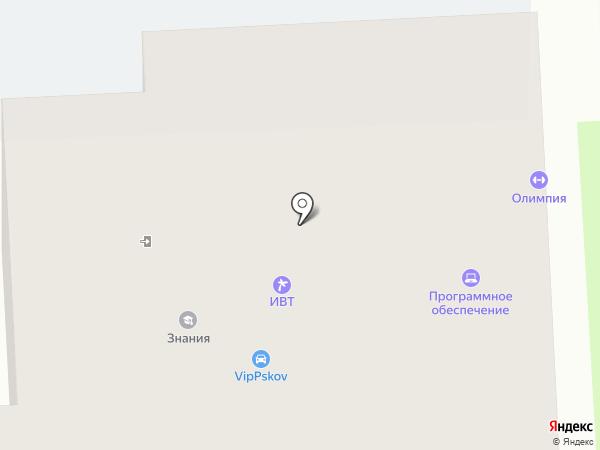 Знания на карте Пскова