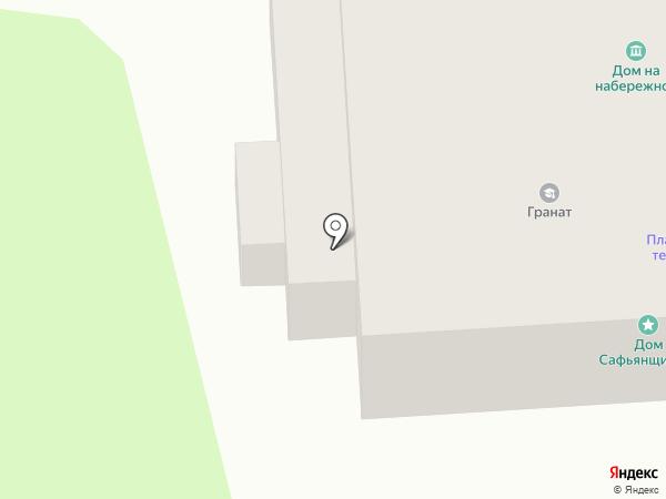 Дом на Набережной на карте Пскова