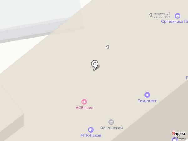 Стригляндия на карте Пскова