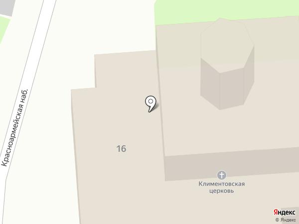 Морской храм святителя Климента Римского на карте Пскова