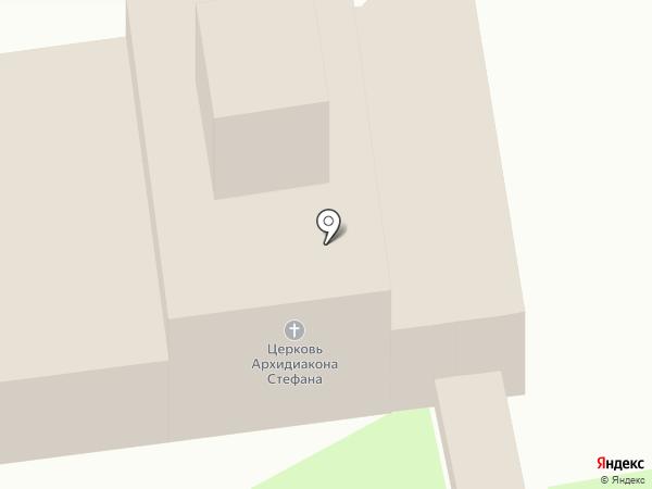 Церковь Стефана Архидиакона на карте Пскова