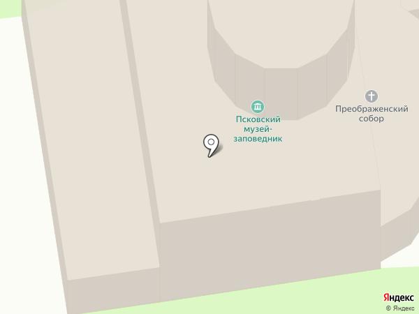 Спасо-Преображенский Мирожский монастырь на карте Пскова