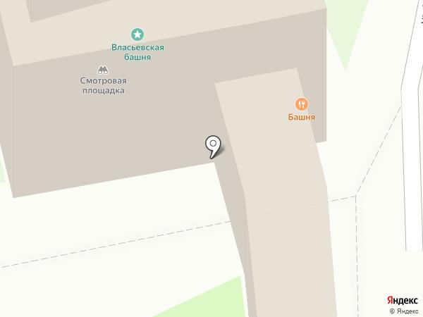 Башня на карте Пскова